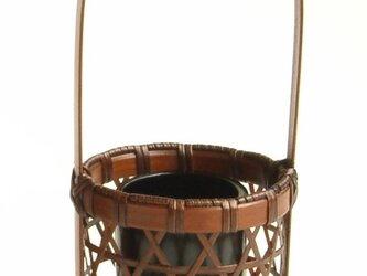 竹製花器・一輪挿し  ミニチュア花籠 ムツメの画像