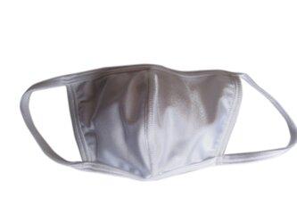 立体シーム・フラット型無地水着マスク・ホワイトの画像