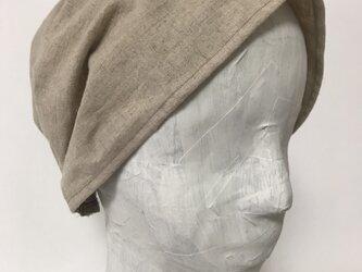 ターバン風帽子 (ベージュ)の画像