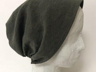 ターバン風帽子 (カーキ)Lサイズの画像