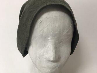 ターバン風帽子 (カーキ)Sサイズの画像