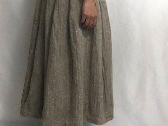 soft pleats skirt/herringboneの画像