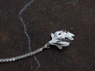シロタエギクのネックレスの画像
