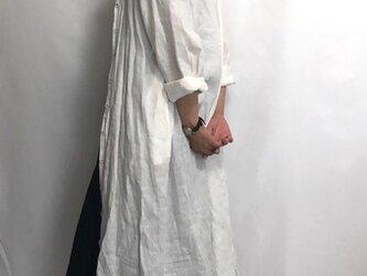 shirt dress/white linenの画像