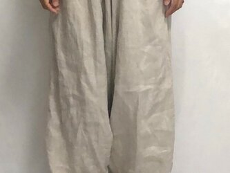 sarouel-pants/washed lithuania linenの画像