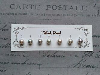 真珠7個セット(ナチュラル7.5ミリ)n.2000-2の画像
