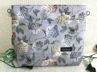 リバティ紫陽花の2Wayバッグインバッグの画像