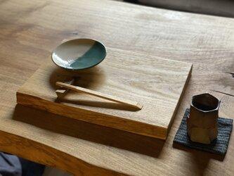 晩酌皿(一枚板、 クリM、角皿)の画像