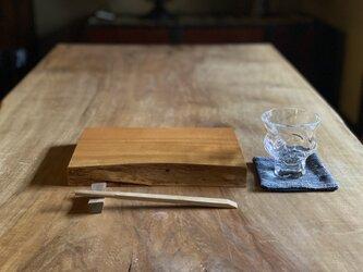 晩酌皿(一枚板、サクラS、角皿)の画像