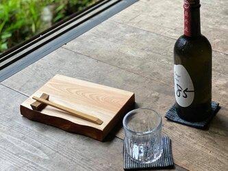 晩酌皿(一枚板、ツバキS、角皿)の画像