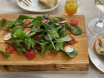 晩酌皿(一枚板、 クワM、角皿)の画像