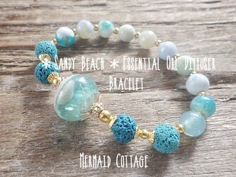 *Sandy Beach*Essential Oil Diffuser Braceletの画像
