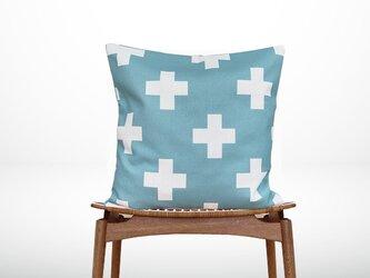 森のクッション +Design back light blue  -ヒノキの香り-の画像