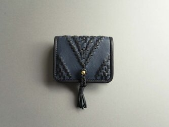 short wallet-orient (black×blue)の画像
