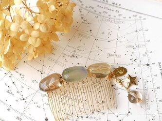 天然石のヘアコーム◎03【送料無料】の画像