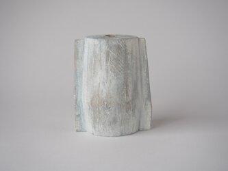 fin(木のオブジェ・一輪挿し)の画像