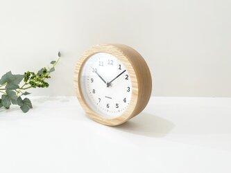 KATOMOKU dual use clock 5 ナチュラル km-112NRC 電波時計 置き時計 掛け時計の画像