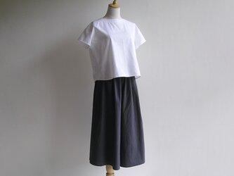 国産コットン*チャコールグレーのキュロットスカート(キャンブリック生地)送料無料の画像