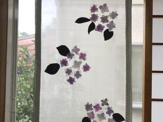 ヴィンテージ薄絹 紫陽花タペストリー 初夏の風の画像