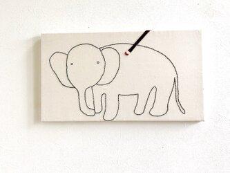 ファブリックパネル  象の塗り絵の画像