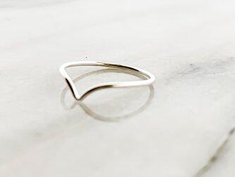 Silver925 vline ringの画像