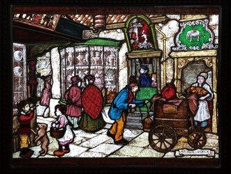ステンドグラスパネル パン屋さんの画像