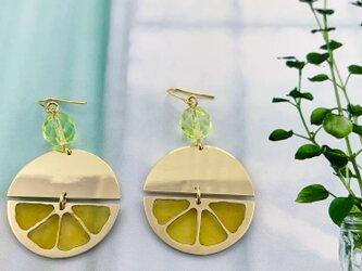 レモンのピアス/イヤリング【brass】の画像