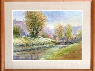水彩画原画 午後の散策の画像