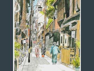 A4サイズ 「お茶屋に向かう舞妓さん」の画像