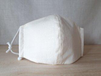 なだらか立体マスク[L]*ドビーキャニオン×白の画像