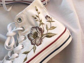 converse 手刺繍のカスタマイズの画像