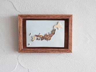 日本地図の壁飾りの画像