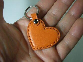 小さいハートのキーホルダー オレンジの画像