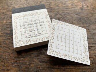 【活版印刷】Label book(Hana 花)niconecoコラボの画像