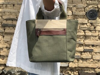 Michi  bag *トート*K〈オリーブ〉の画像