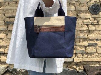 Michi  bag *トート*K〈ネイビー〉の画像