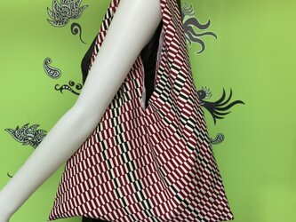 着物で作った『ちょっとそこまでbag』 市松の画像