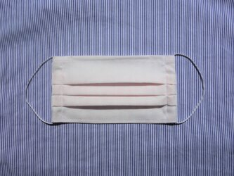 K様オーダー/イニシャル入りマスク/ ホワイト/裏地ピンクガーゼ※画像は刺繍前のものですの画像