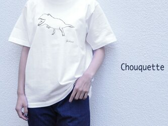 【恐竜白】プリントTシャツ Chouquette SF7416 シュケット 動物 アニマルの画像