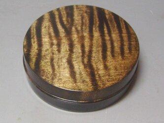 NO-L 楓斑杢ブラック染めガラスコーと仕上げ ミニ食籠 香盒の画像