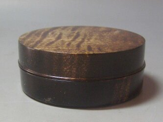 NO-Z 楓斑杢ブラック染めガラスコーと仕上げ ミニ食籠 香盒の画像