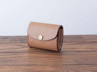 イタリア製牛革の三つ折りピッコロ財布 / オーク※受注製作の画像