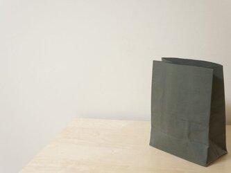 紙袋風布袋:オリーブの画像