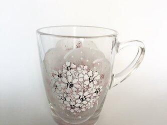 ホットもOK!刺繍のように~お花を・渋いピンク系の画像