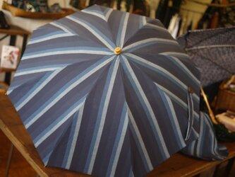 正絹紬の日傘の画像