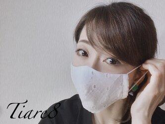 ◆即納可◆真夏に映えるおしゃれな「コットンレース」 涼しく快適な夏向き立体マスクの画像