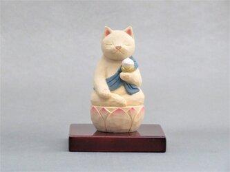 木彫り 虚空蔵菩薩猫 猫仏2005の画像