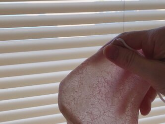 口元シアーな夏マスク ペールピンク SP1の画像