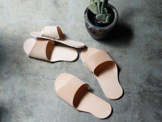 room shoes 姫路タンニンレザー使用《Lサイズ》の画像