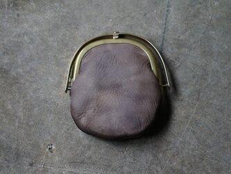ワンタッチOPEN真鍮がまぐちコインケース#手塗りLEATHER-grageの画像